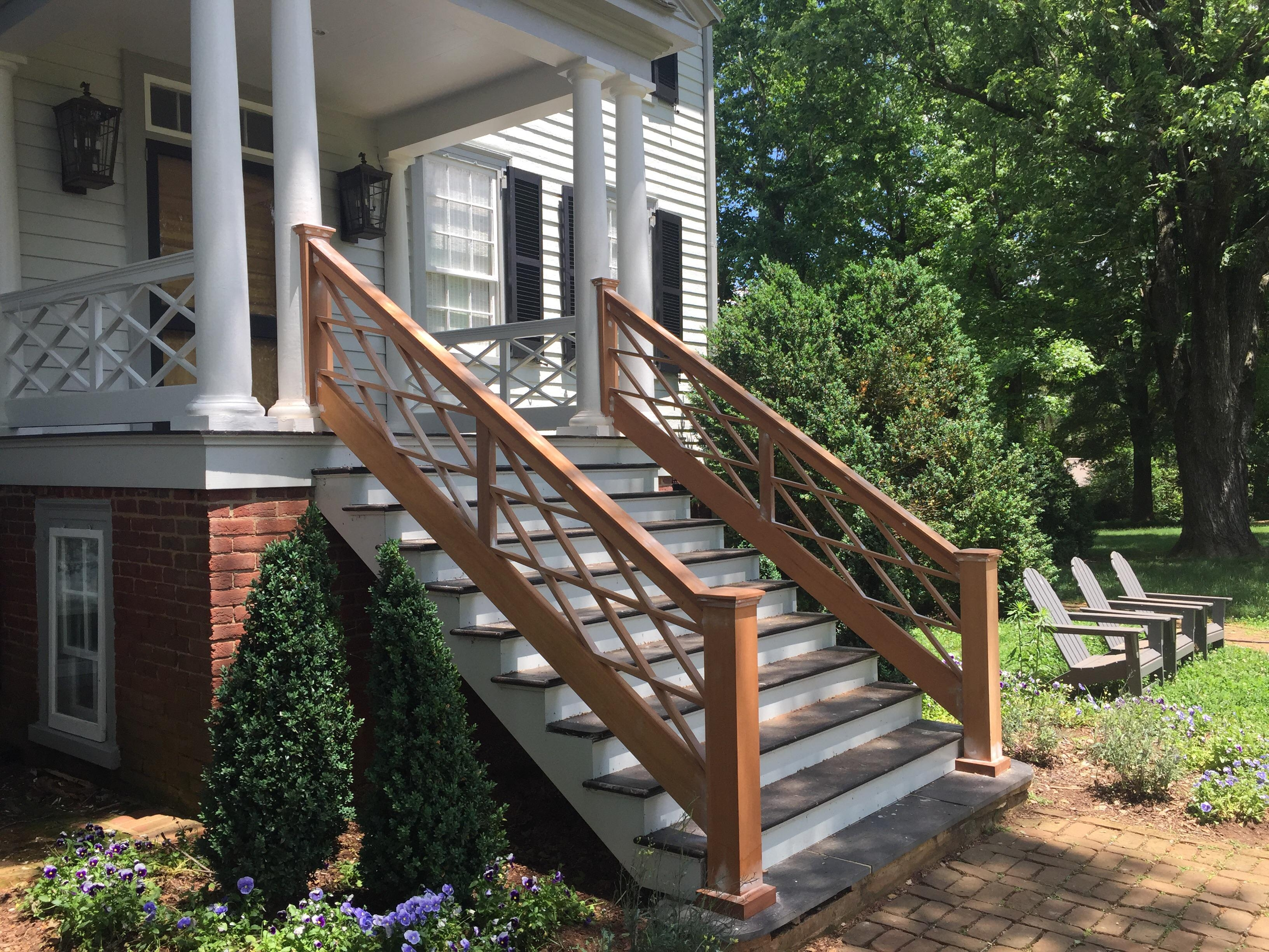 Mahogany Stair Rail That I Made Last Week Woodworking | Knotty Alder Stair Railing | Distressed | Diy | Interior | Indoor | Wood