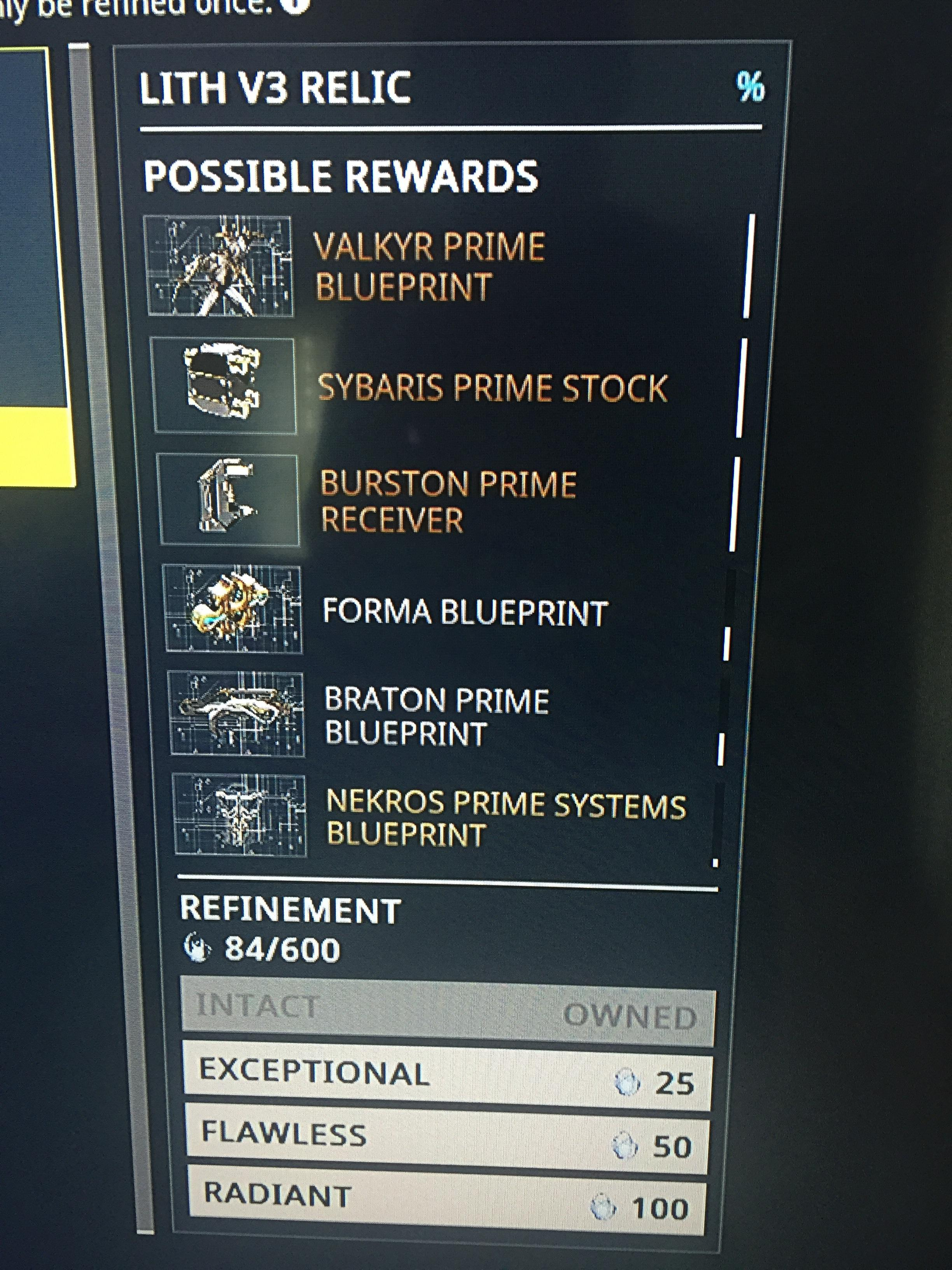 Sybaris Prime Appearing In Relics Warframe