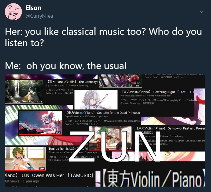 Classical Composers Like Beethoven Mozart Zun And Vivaldi Touhou