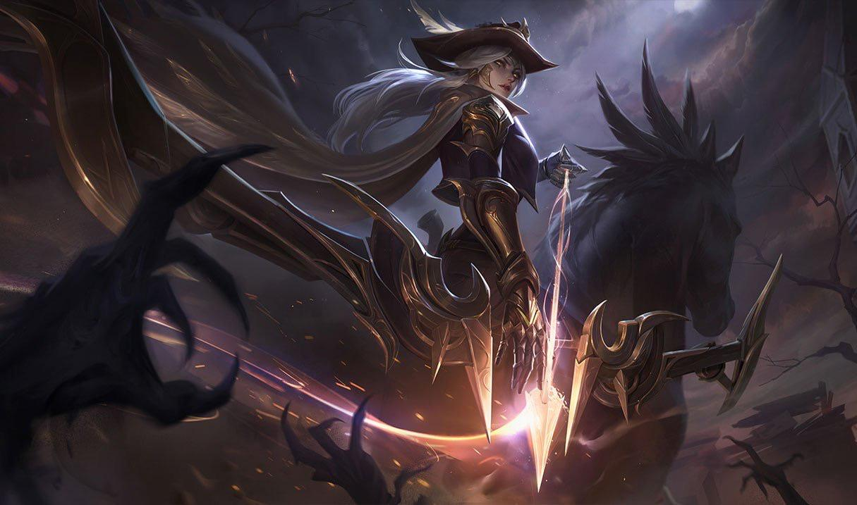 High Noon Ashe Splashart : AsheMains