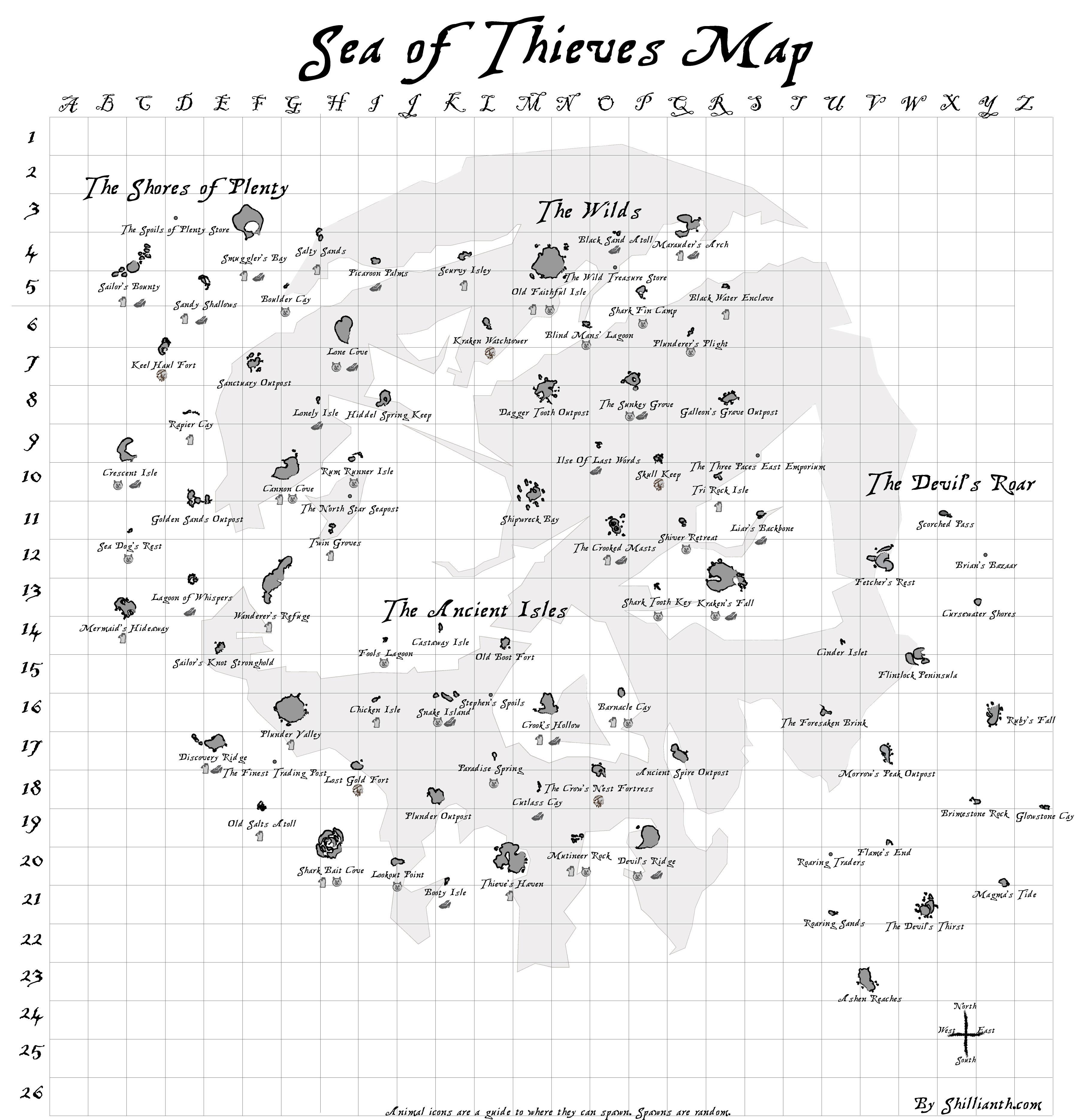 Updated Map Seaofthieves