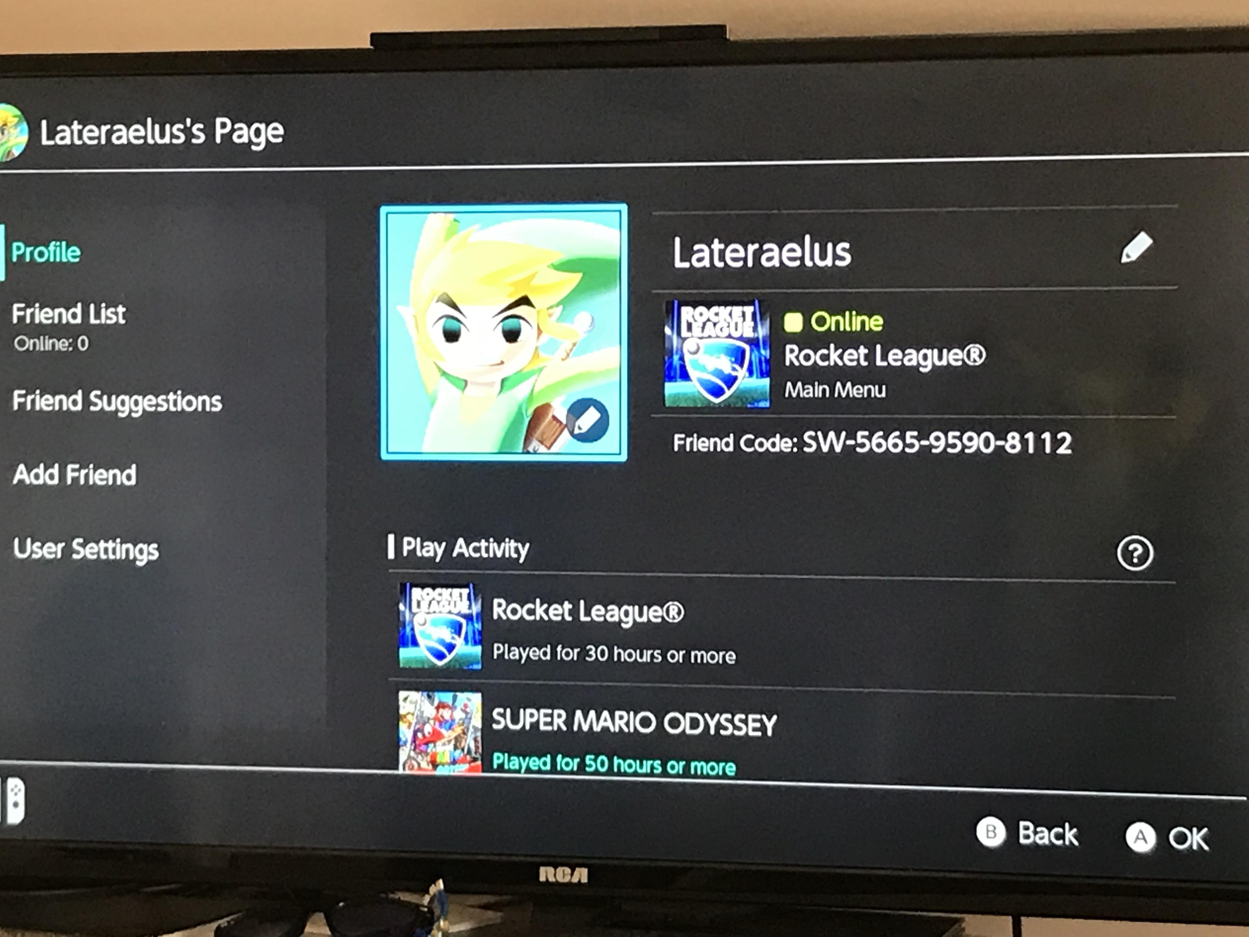 Looking for friends to play Rocket League  Splatoon 2  ARMS  or     Looking for friends to play Rocket League  Splatoon 2  ARMS  or Mario Kart  8 Deluxe