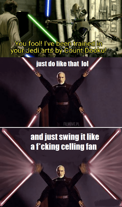 How Count Dooku Trained General Grievous Prequelmemes