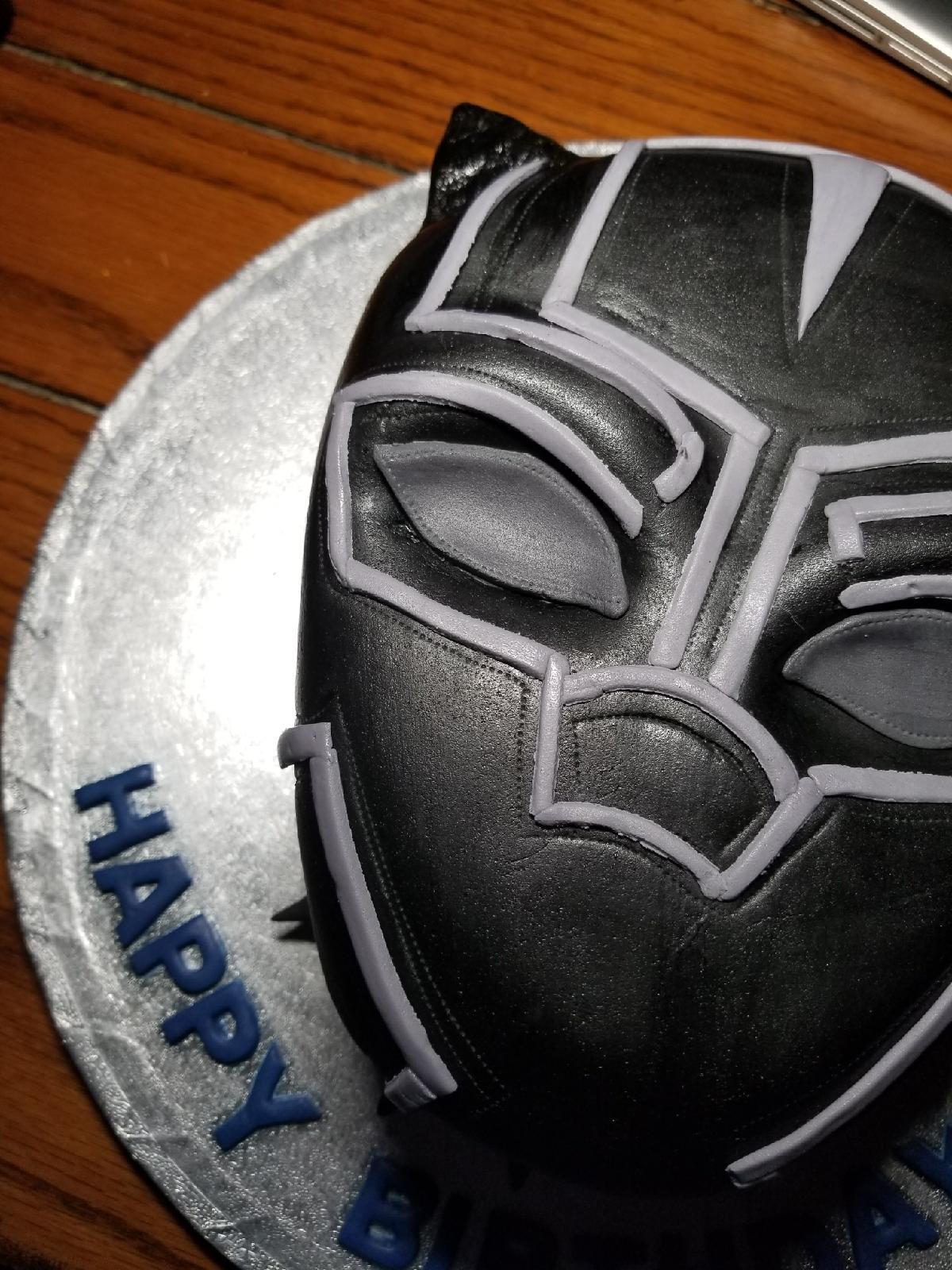 Homemade Black Panther Birthday Cake Marvelstudios