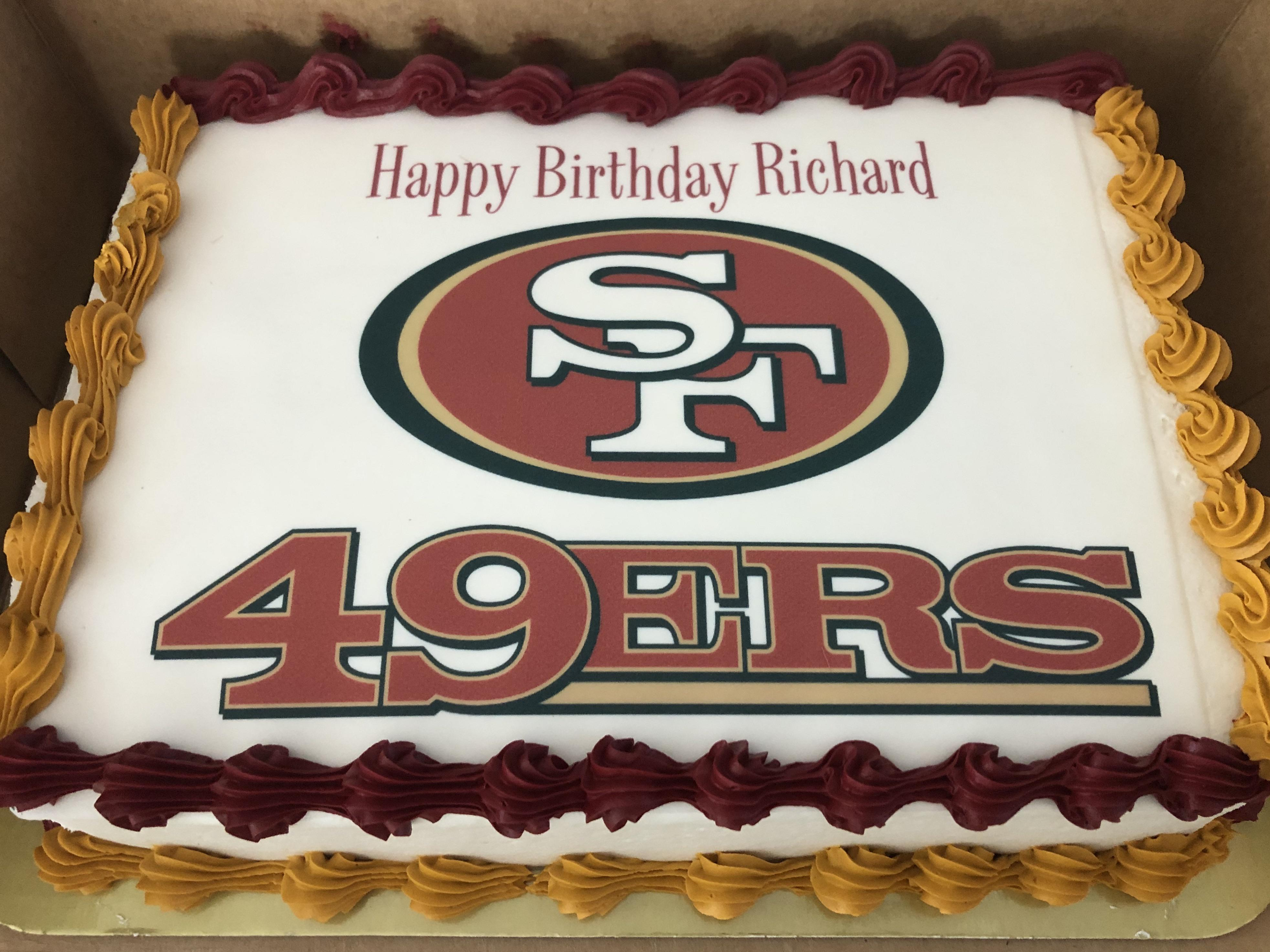 Birthday Was Friday But Got The Cake For Today S Game Go Niners 49ers