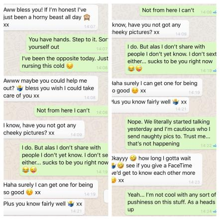 Dirty messages for him