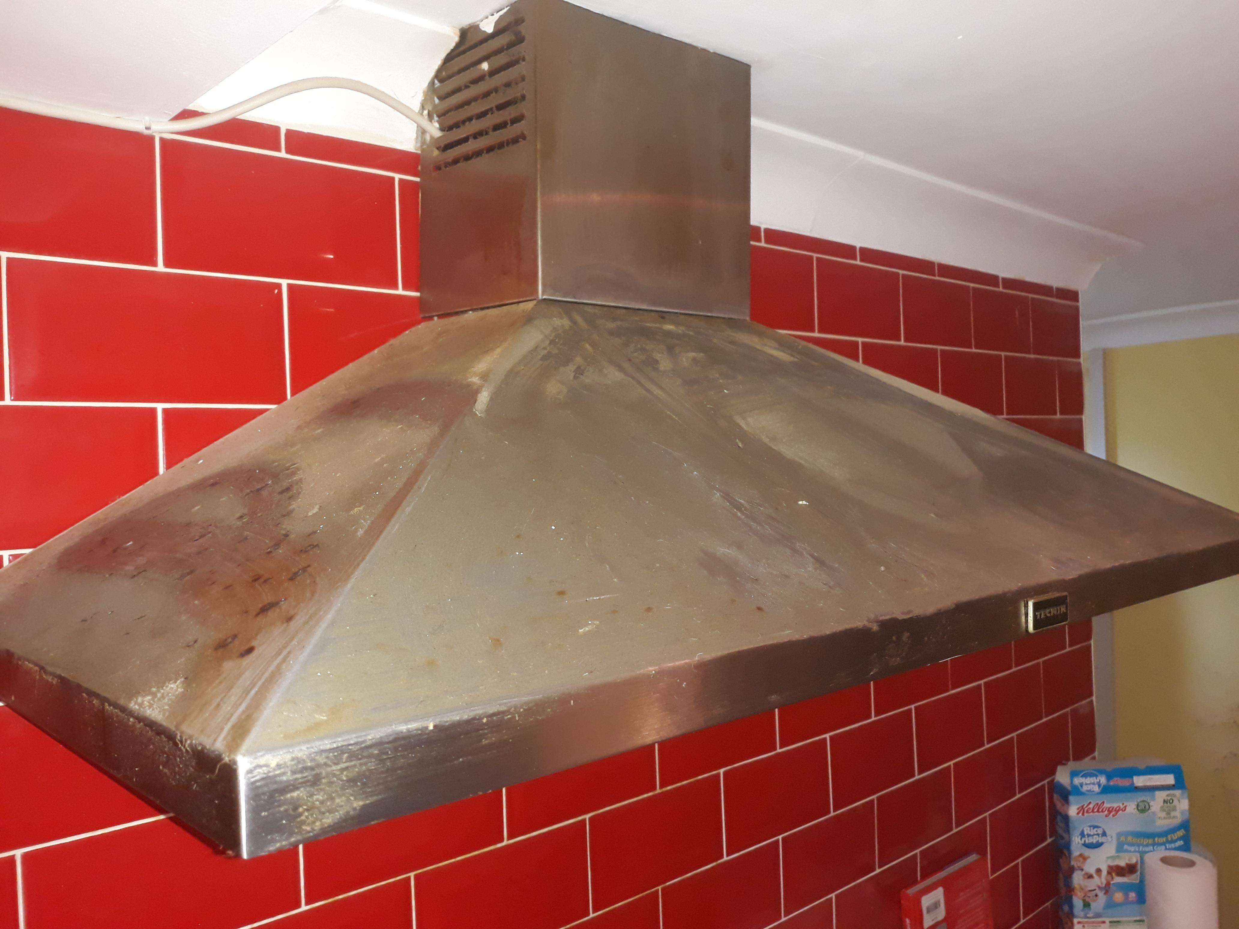 very greasy dirty extractor fan not