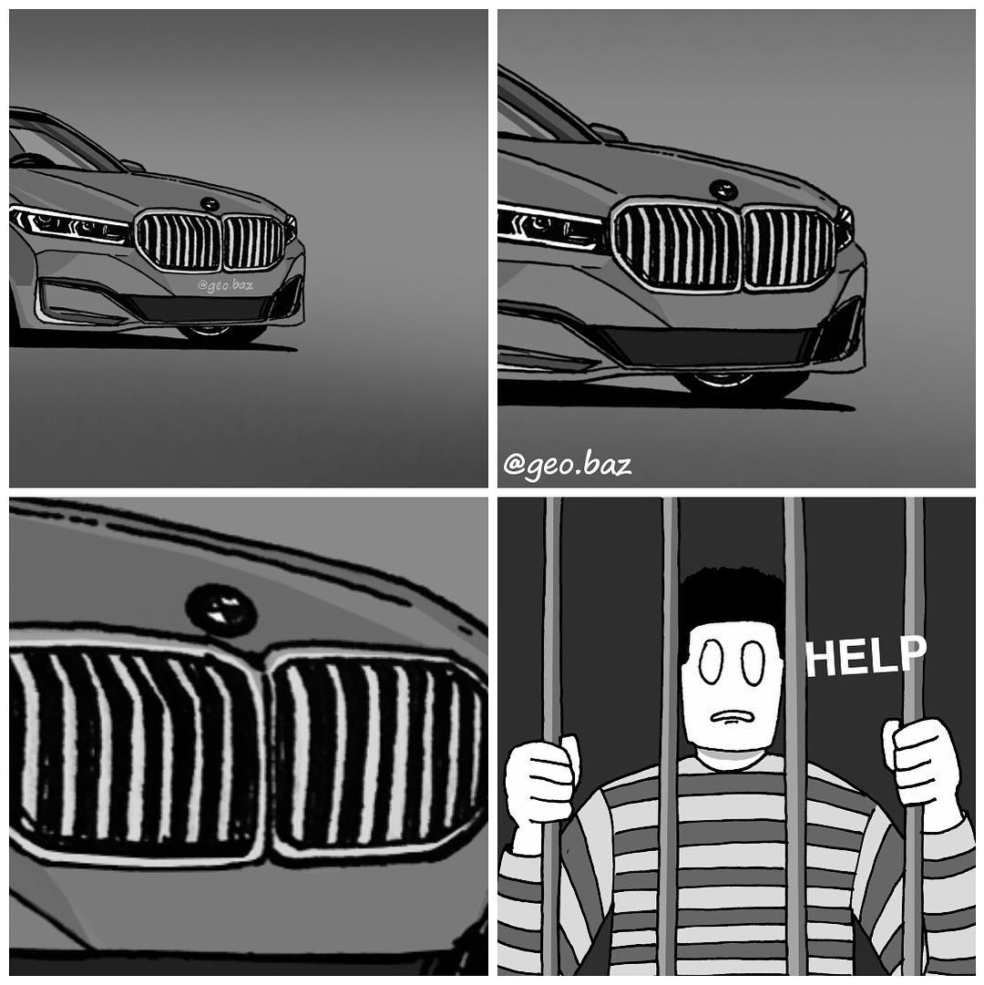 New Bmw Thanks For Not Aborting Me Huge Front Grille Starecat Com