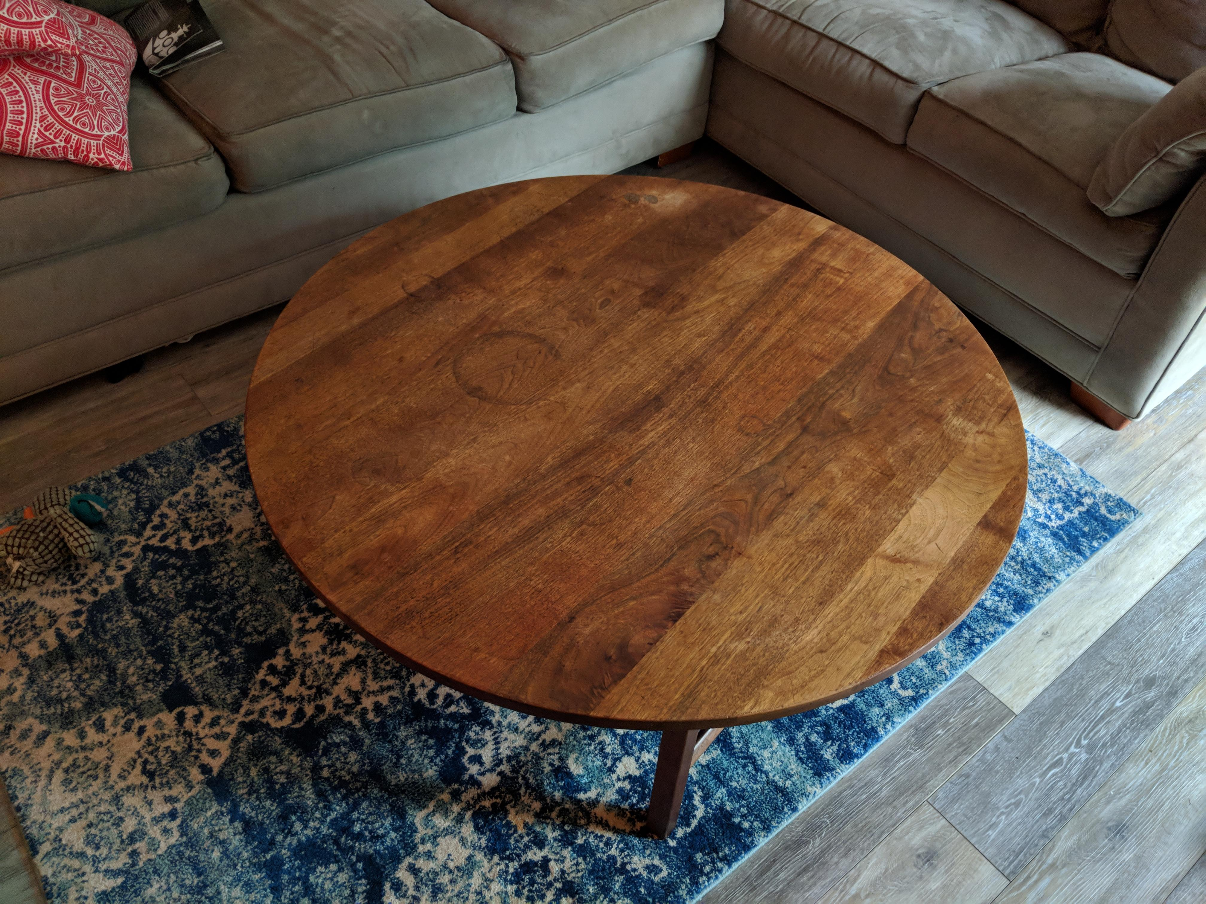 restore this walnut coffee table