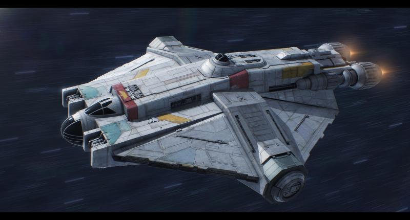 Ghost is one of my favourite new Star Wars ships so I decided to make a  realistic 3D model of it : StarWars