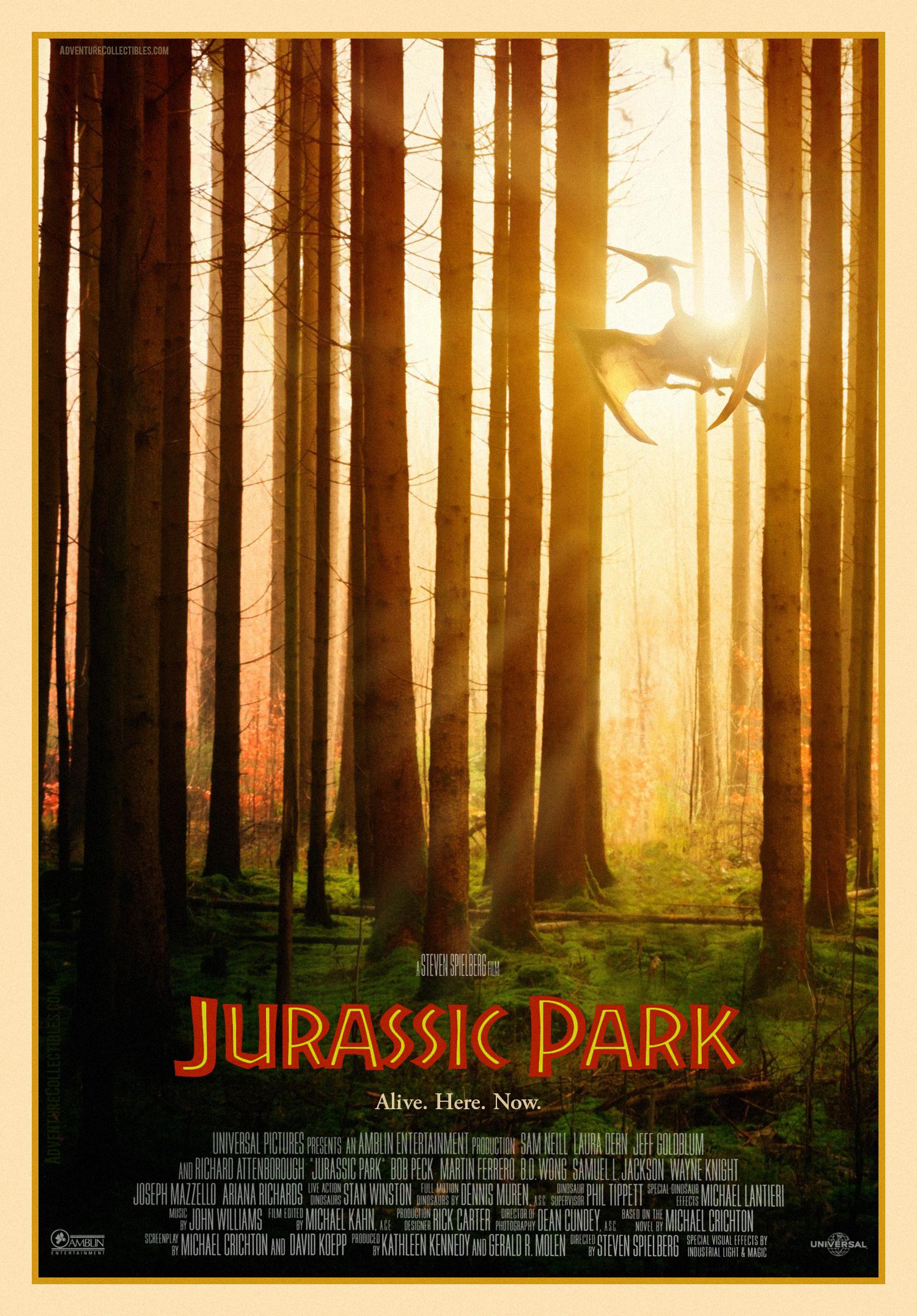 fan made jurassic park movie poster by