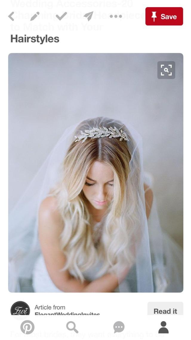 help me find a wedding headband with a veil attached to the