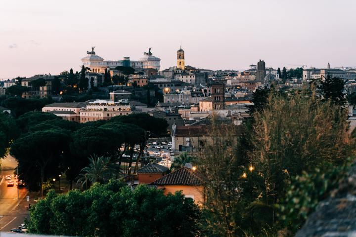 View from the Giardino degli Aranci in Rome, Italy (Photo credit to Gabriella Clare Marino) [5964 x 3976]