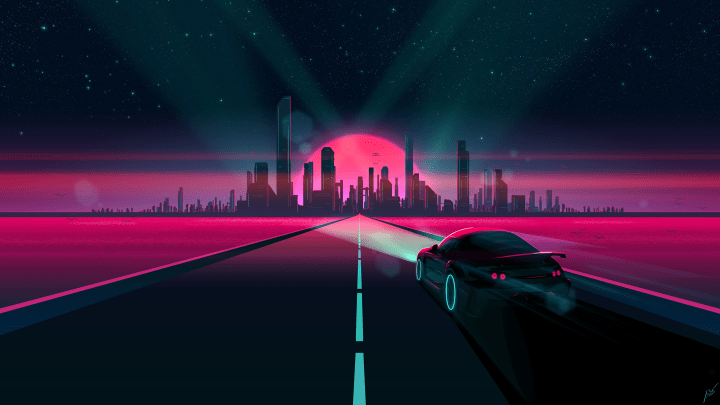Driving to the city [2560×1440]