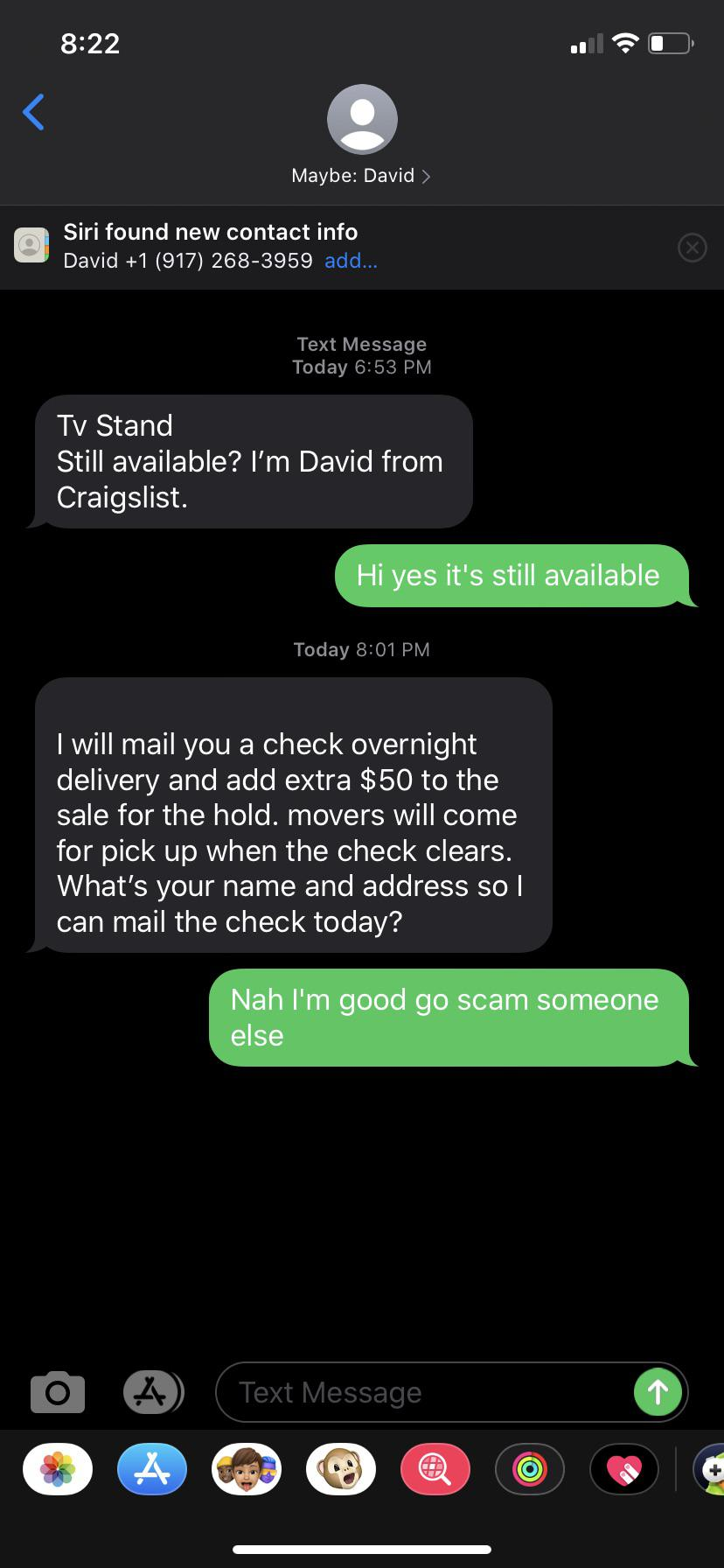 I Just Want To Sell My Tv Stand On Craigslist And The Only People