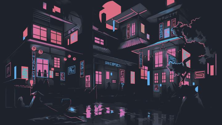 Night City Art (5120×2880)