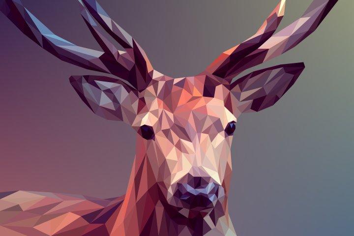 Deer-polygons-art [7200×4800] credit to Manuchi