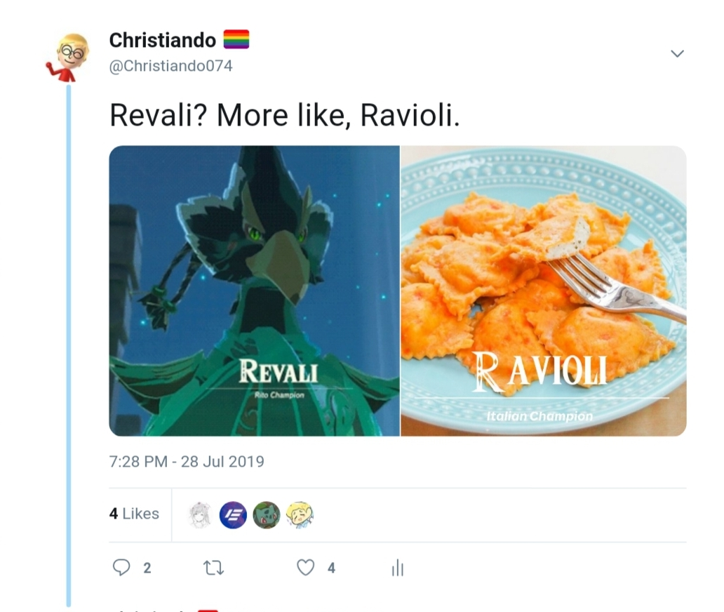 Revali More Like Ravioli Breath Of The Wild