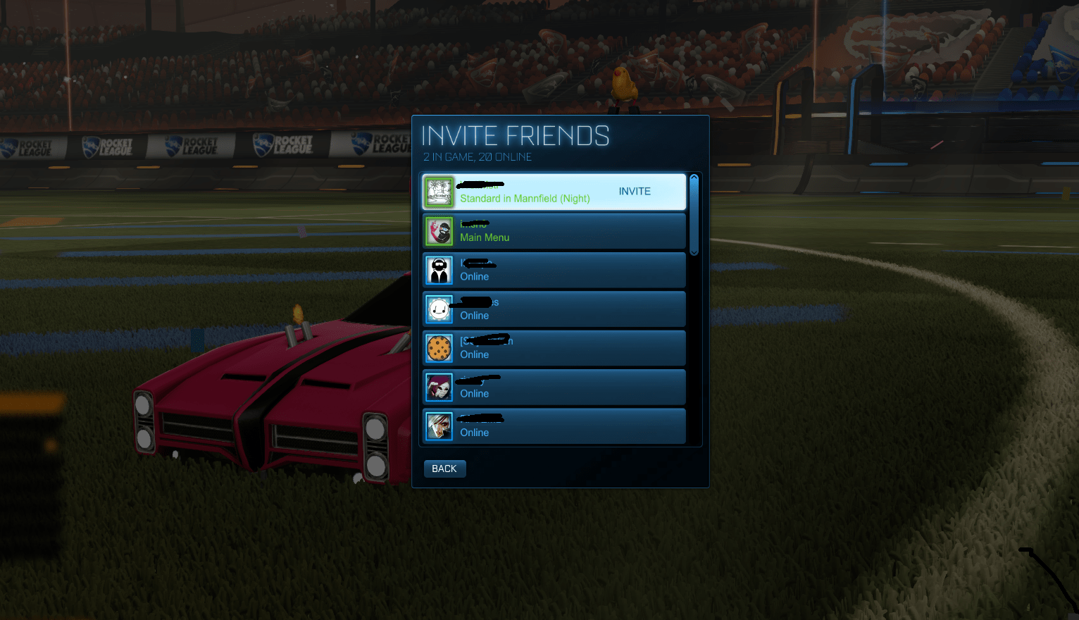 finally    thanks psyonix for the in game friends invite   RocketLeague IMAGEfinally    thanks psyonix for the in game friends invite