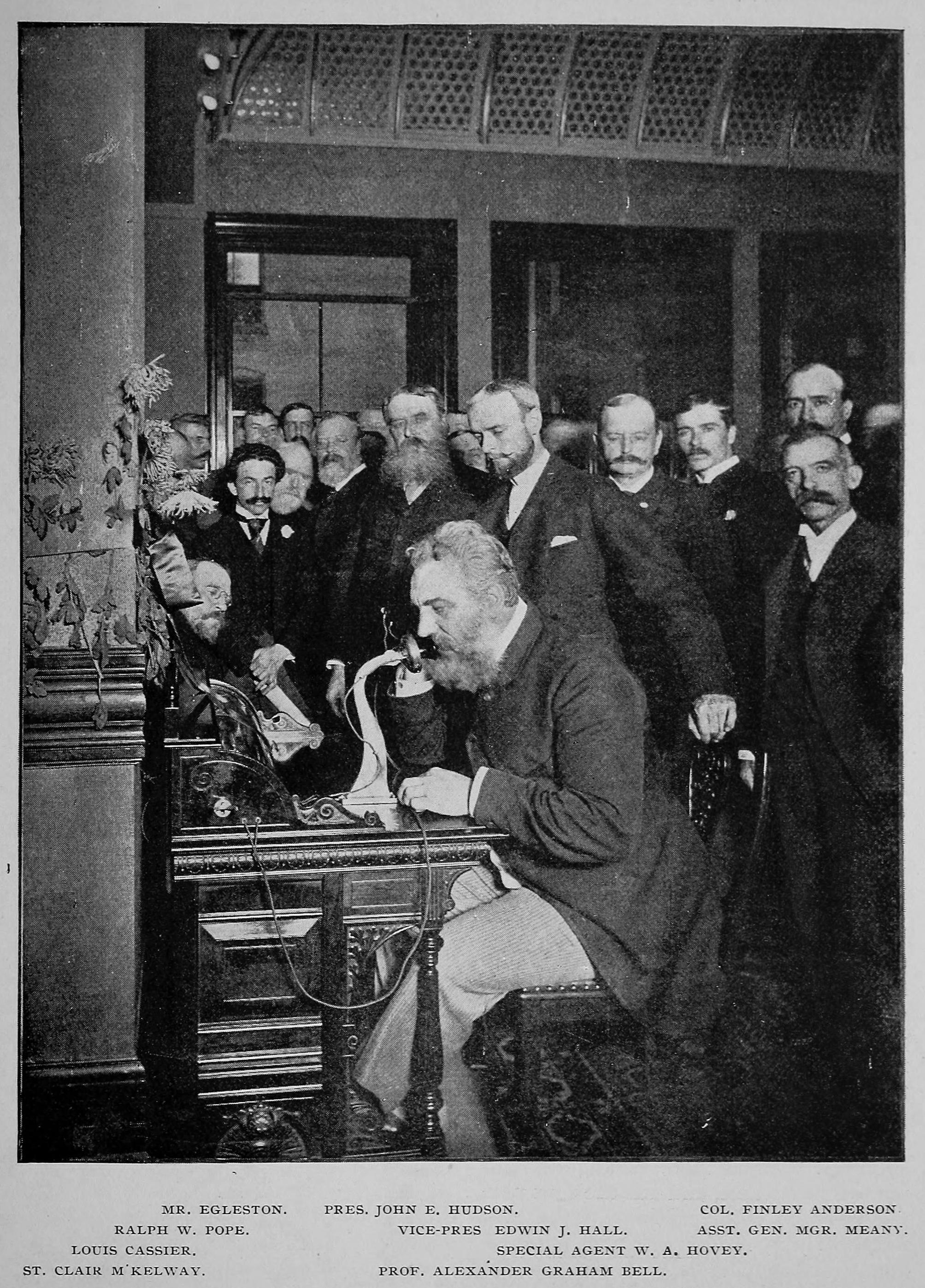 Alexander Graham Bell Makes A Call To Chicago October