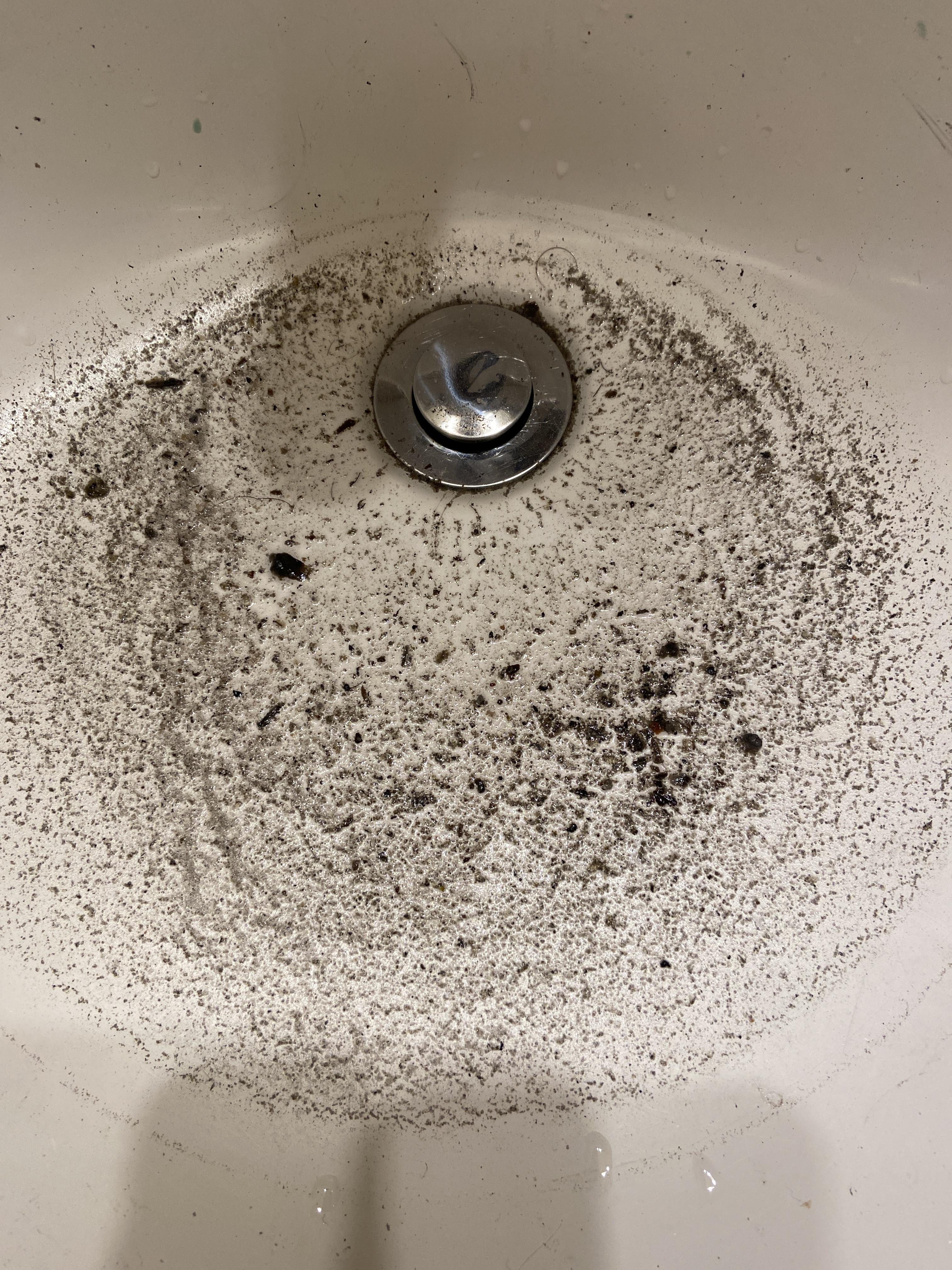 black stuff coming out of sink slowly