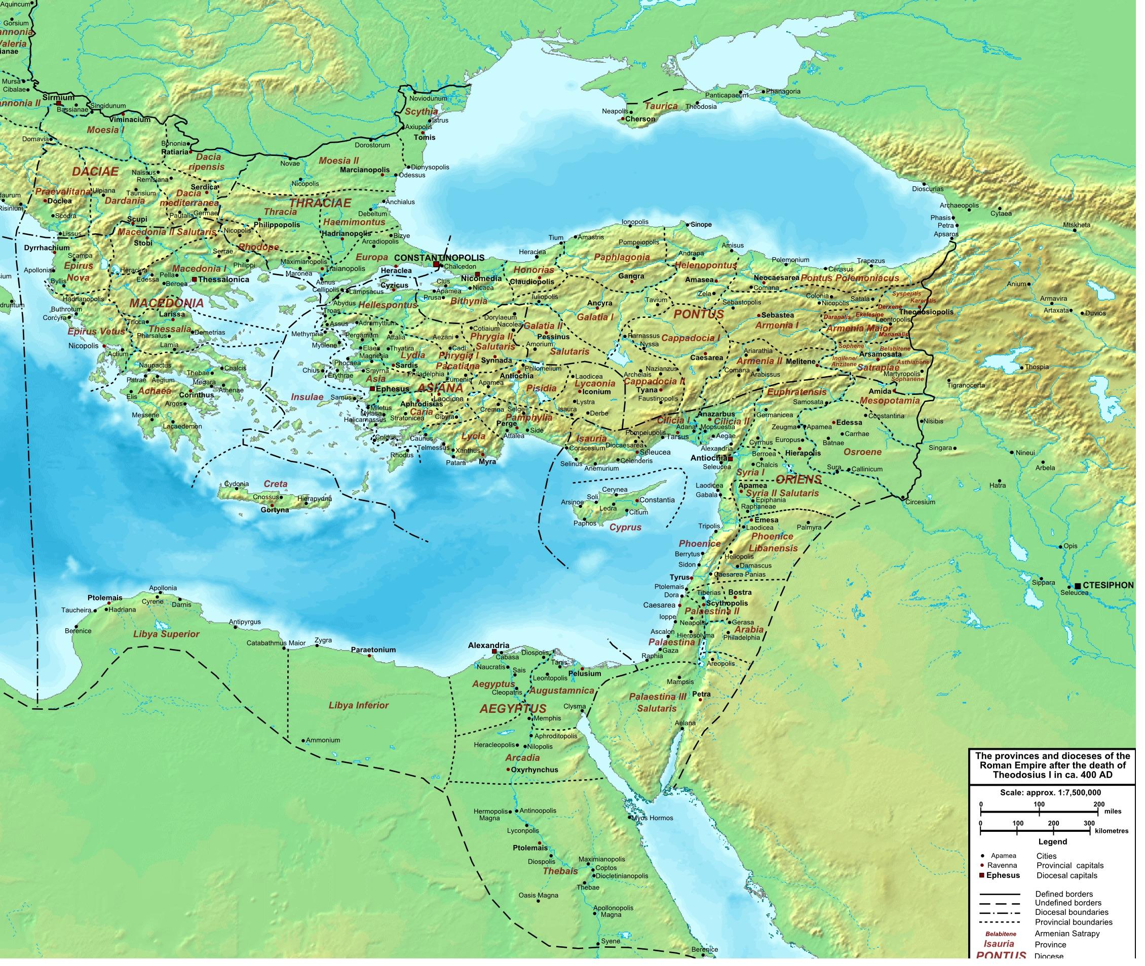 Map Of The Eastern Roman Empire Byzantium