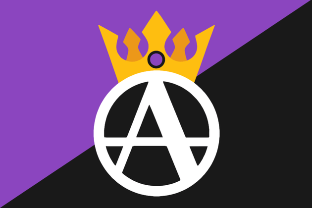 Flag of Anarcho-Monarchism : vexillology