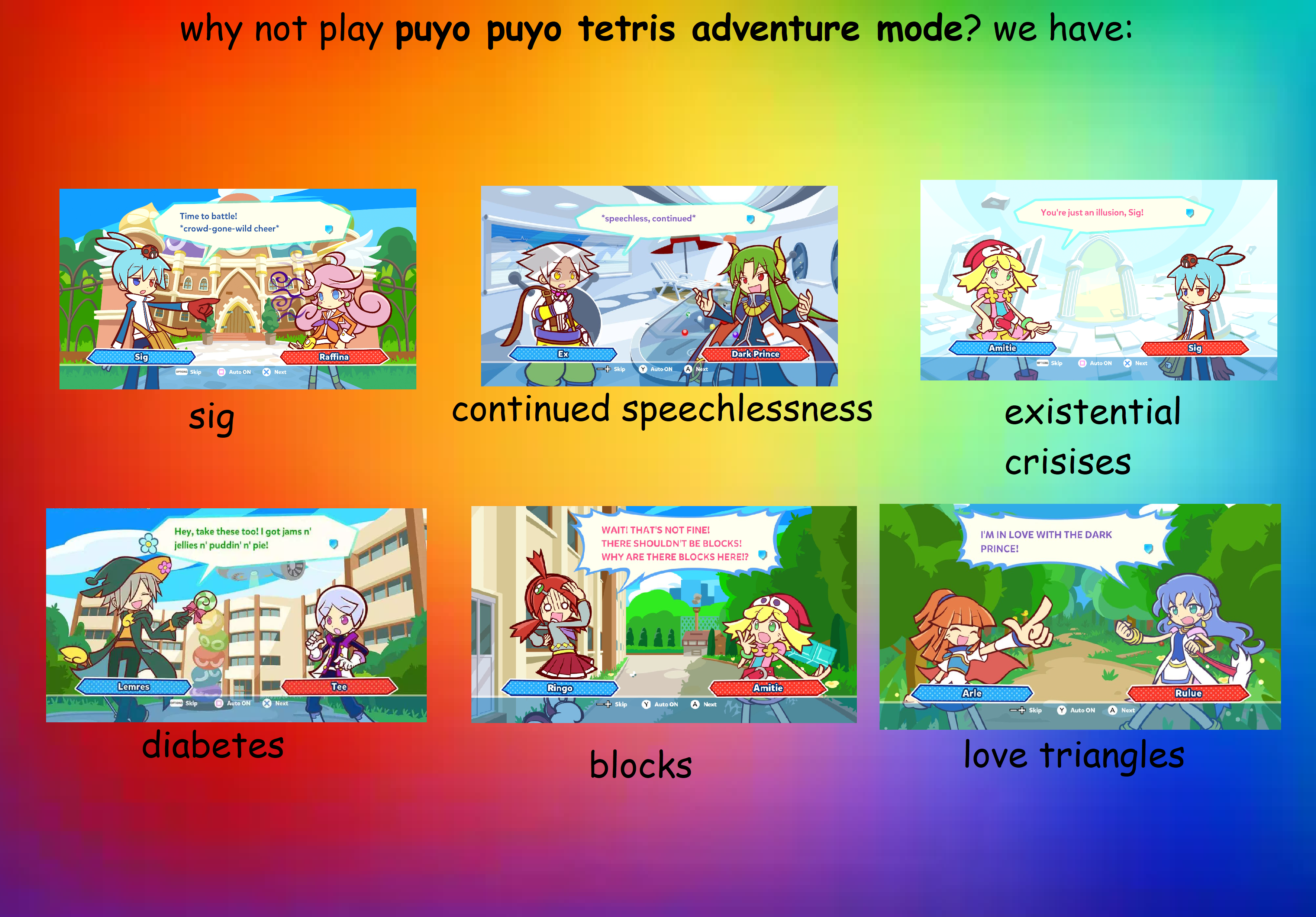 Why Not Play Puyo Puyo Tetris Adventure Mode Puyopuyotetris