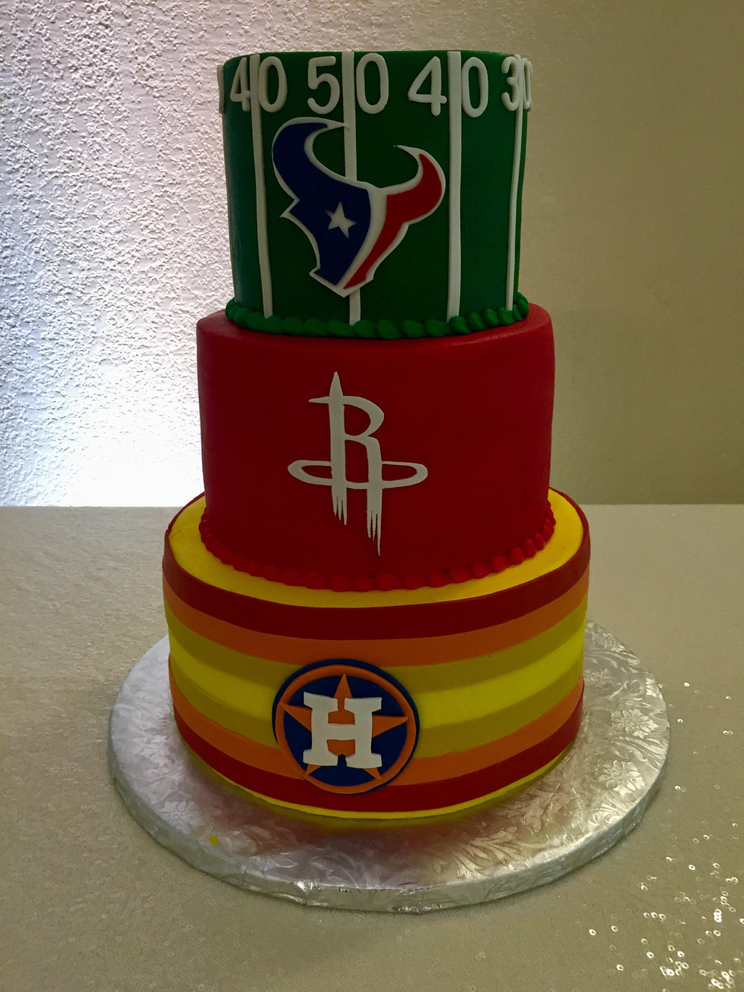 Happy Birthday Houston Rockets Cake