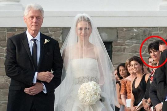 Ghislaine Maxwell at Chelsea Clinton's wedding : Epstein