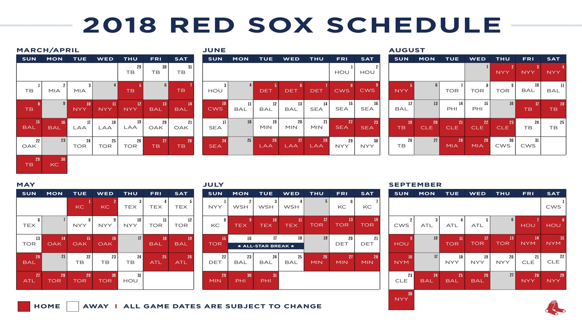 Red Sox Printable Schedule That Are Sly
