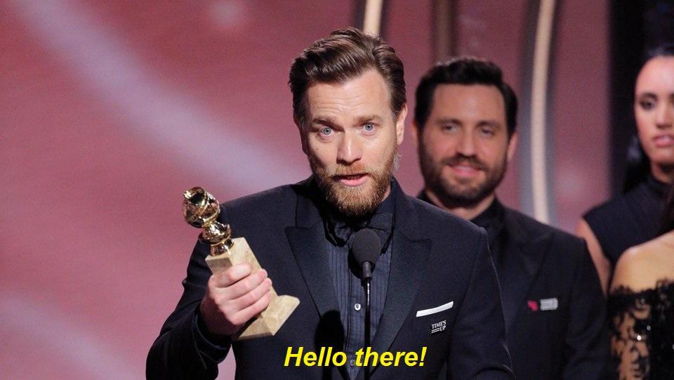 Jedi Master Obi Wan Kenobi Accepting An Award For Best Use Of The