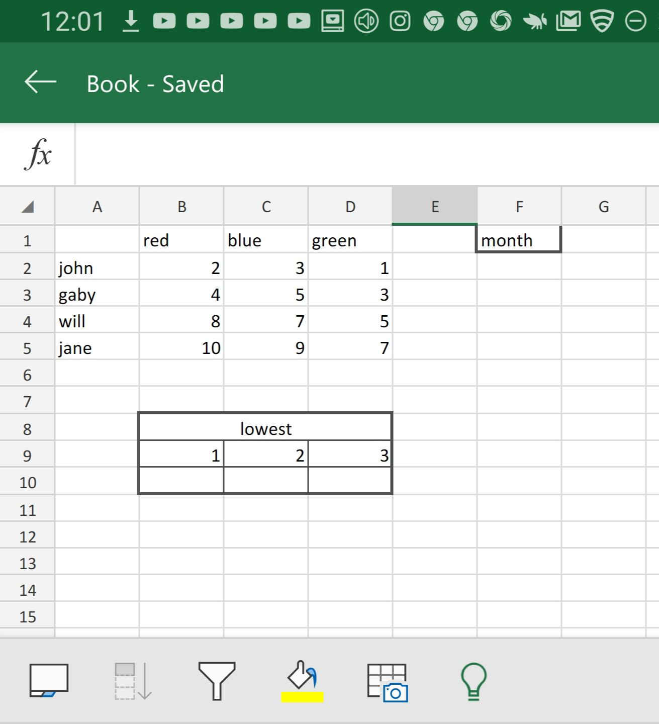 Index Match Small Data Val No Vba Excel