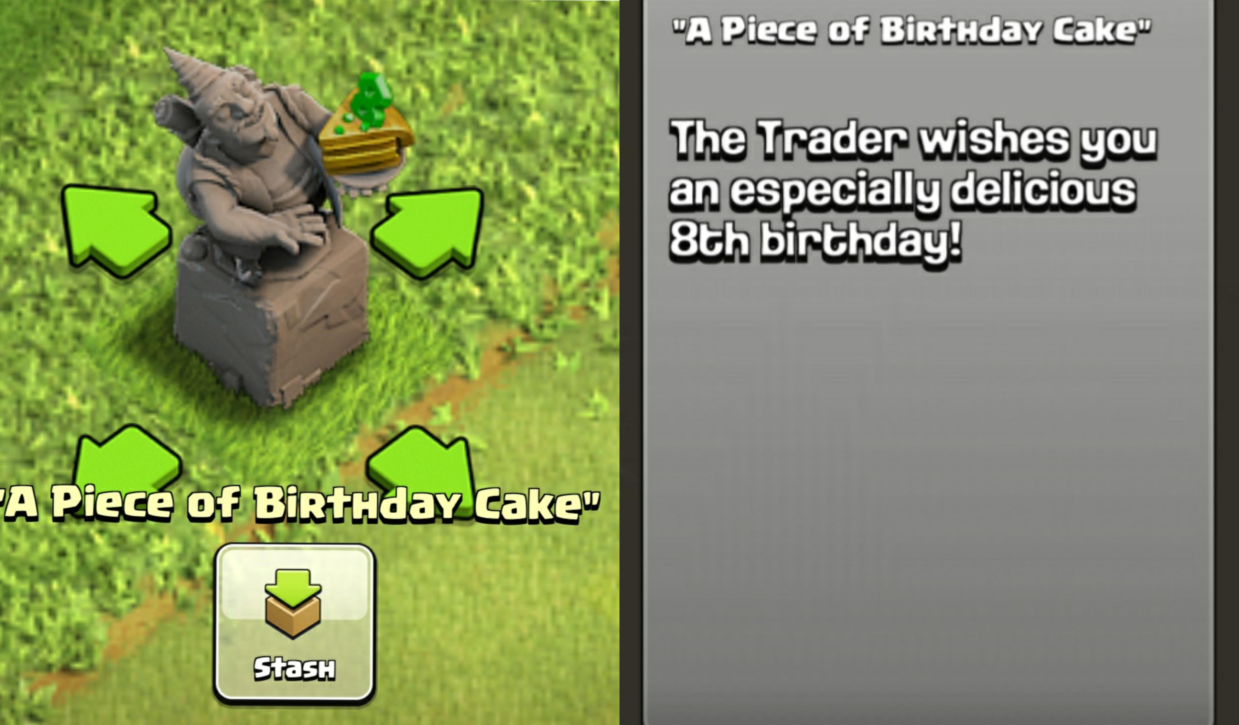 Misc Next Statue Coming For The Clash Anniversary Another Birthday Cake For Obstacle Clashofclans