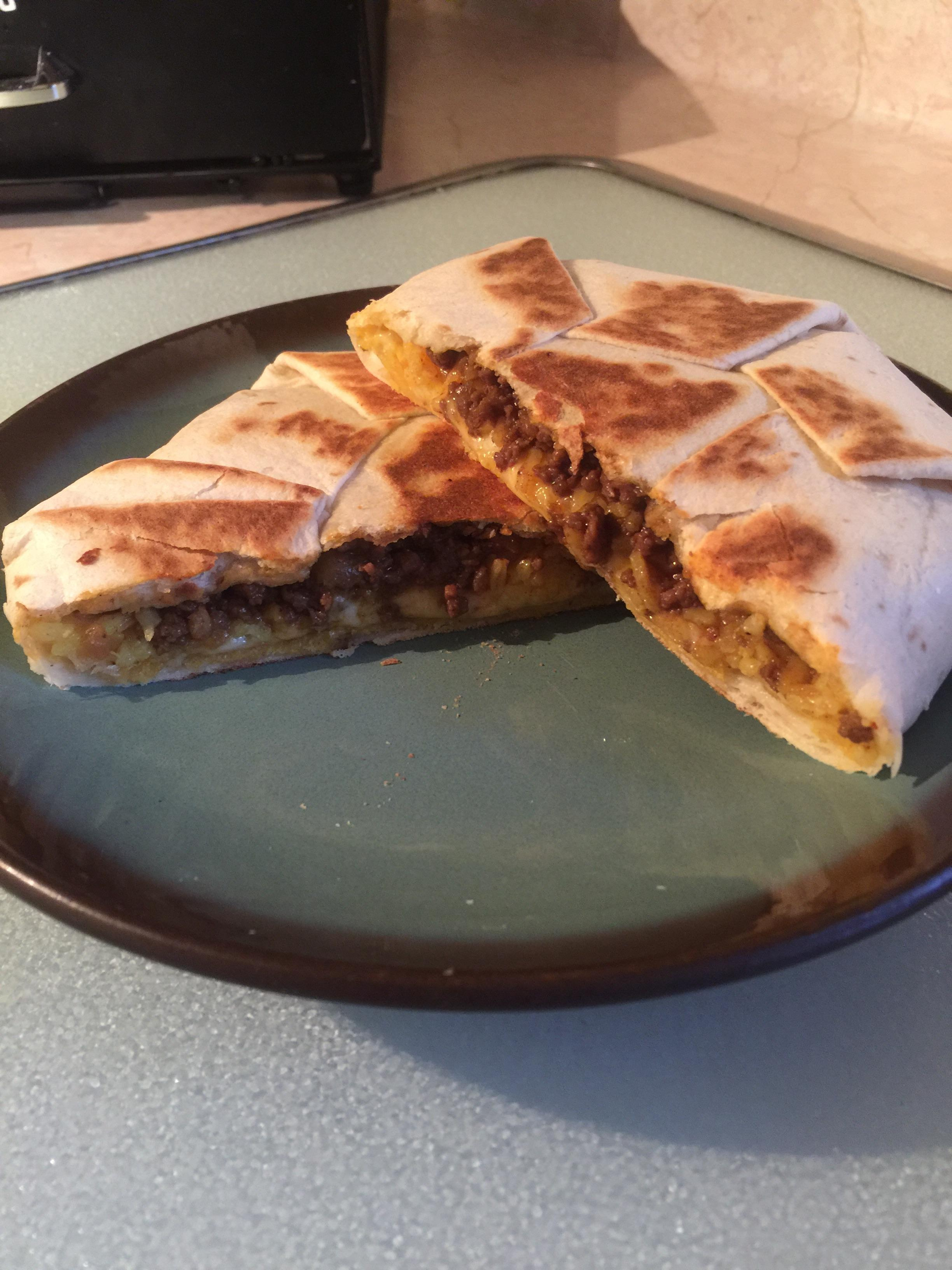 Homemade Crunchwraps Food