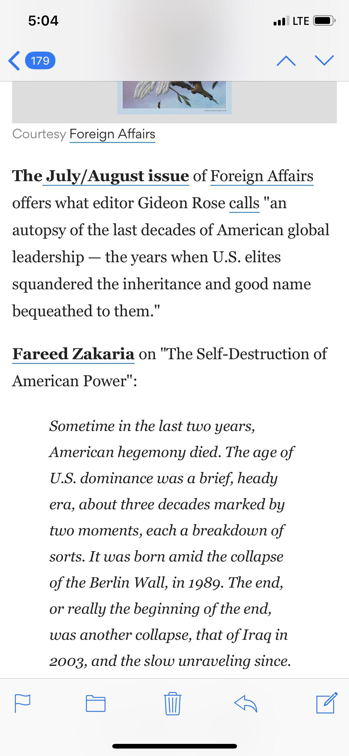An Excerpt Seen Here From Fareed Zakaria S Autopsy Of The
