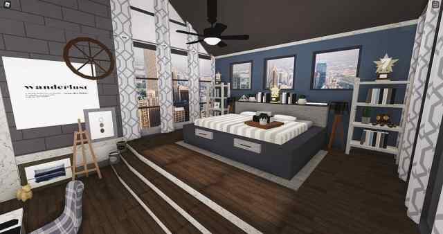 A master bedroom in the city : Bloxburg