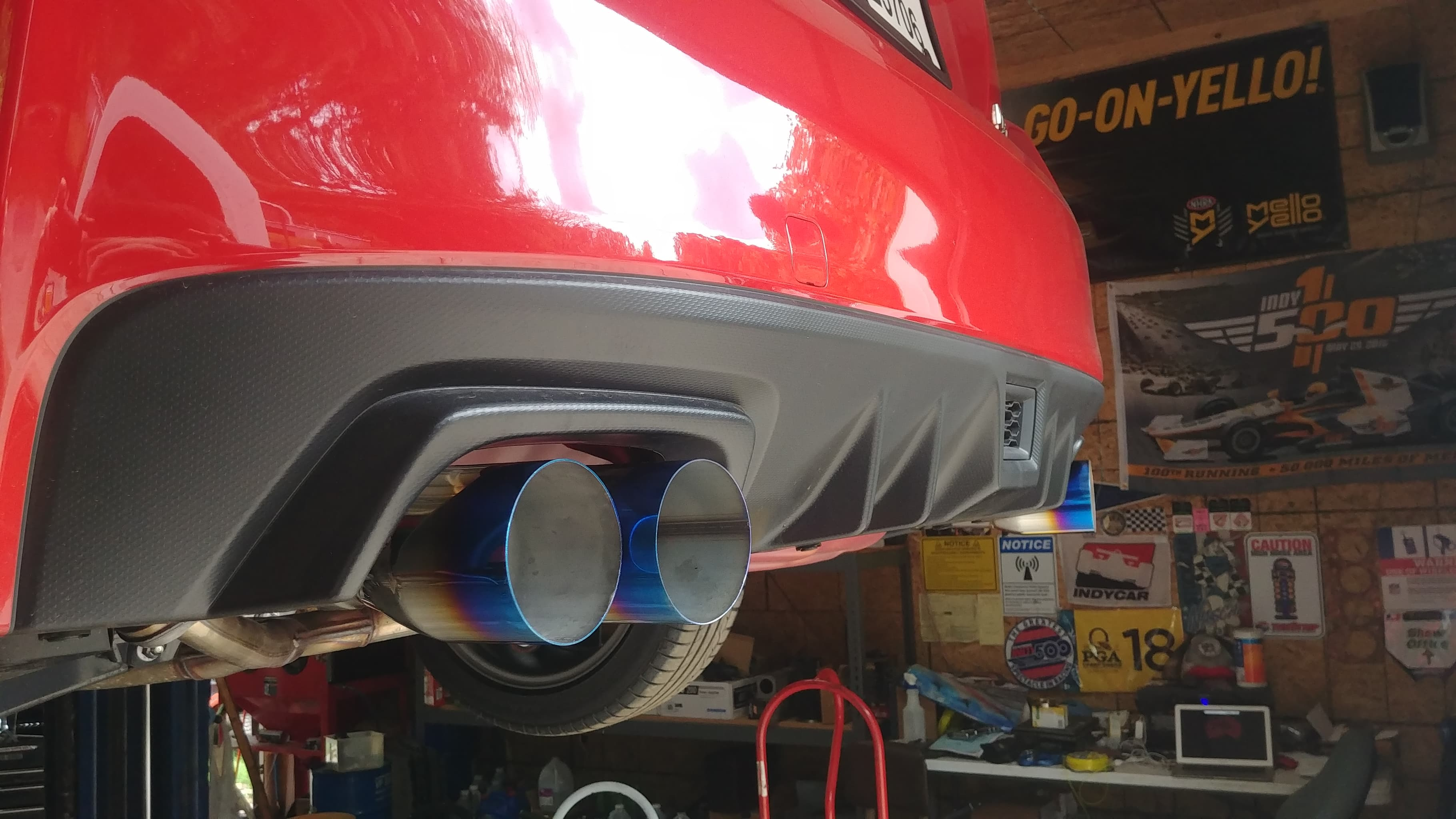 loving the burnt tips on pure red wrx