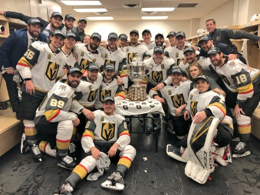 The Western Conference Champions Vegas Golden Knights : hockey
