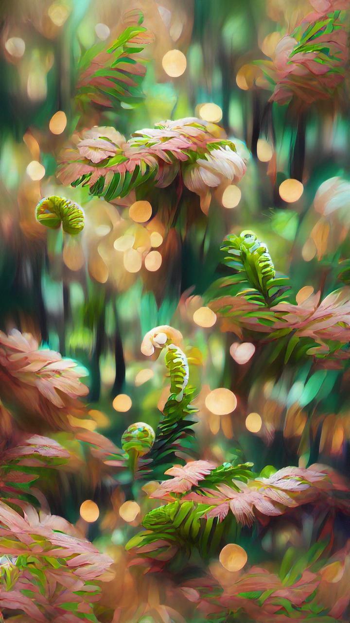 """""""Ferns & Petals"""" – made on starryai app"""