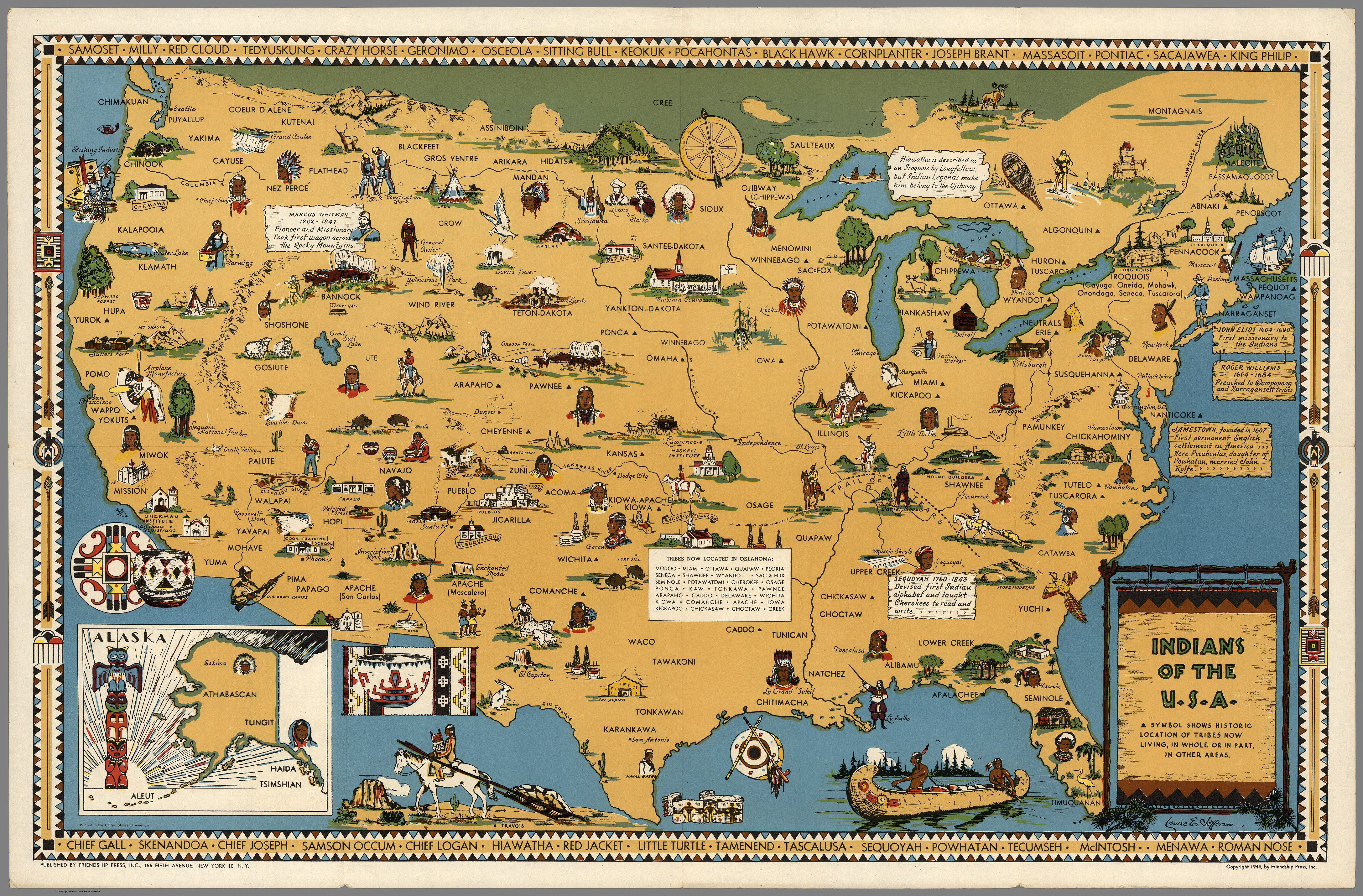 Indians Of The U S A Map