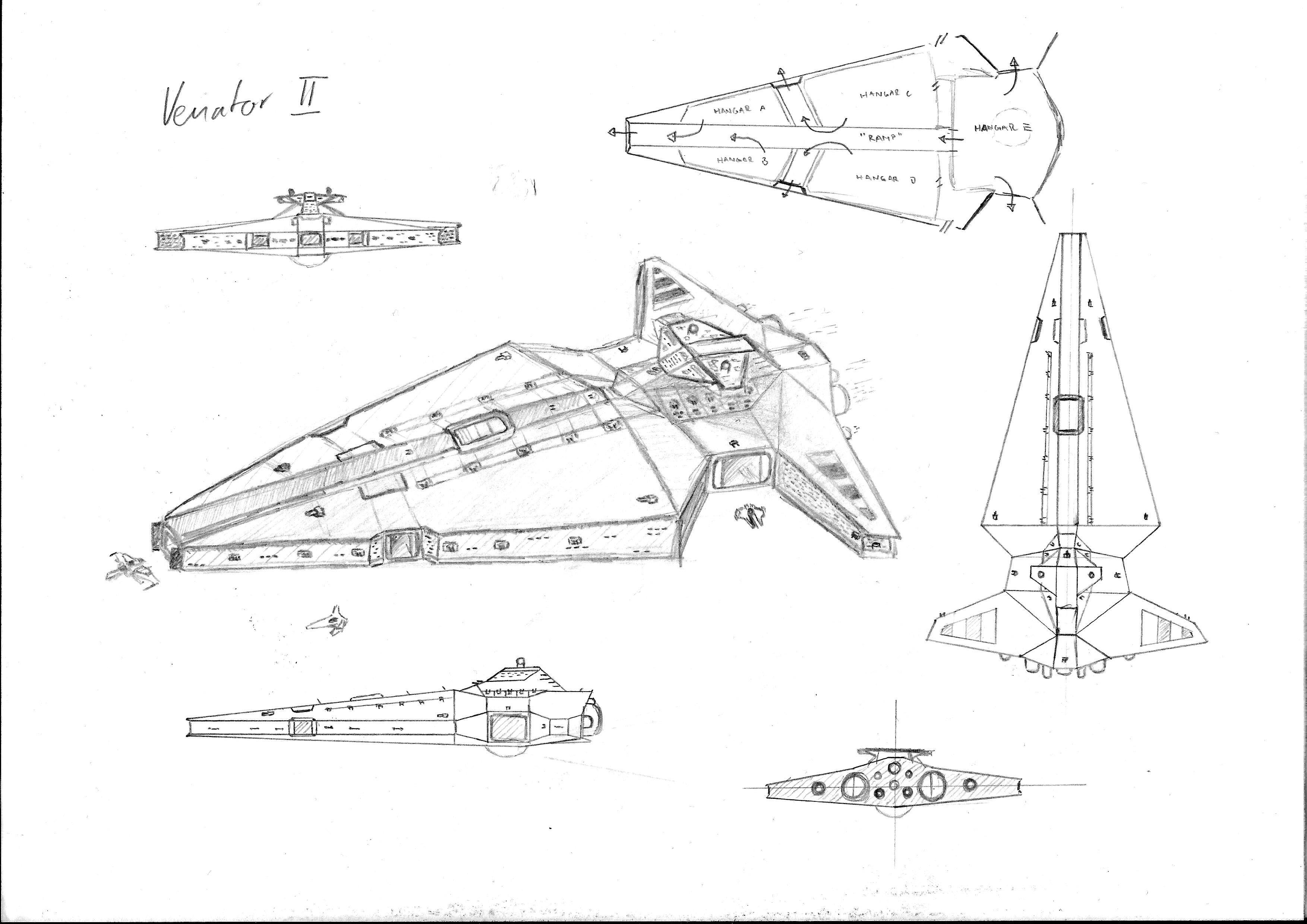 My 10 Min Sketch Proposal For A Venator Ii Class Star