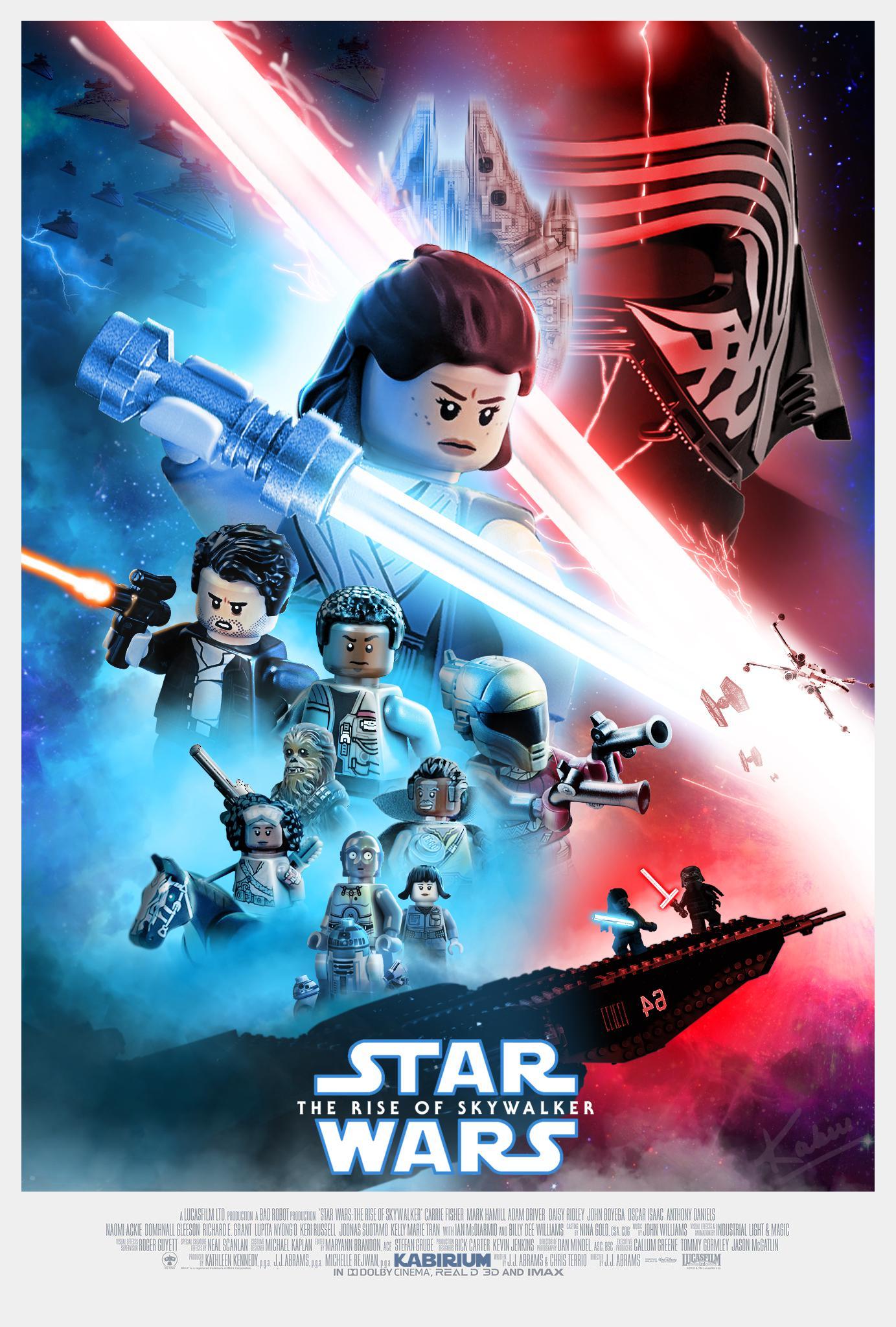 skywalker poster with legos starwars