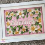 Framed Quilled Name Plate A Birthday Gift Quilling