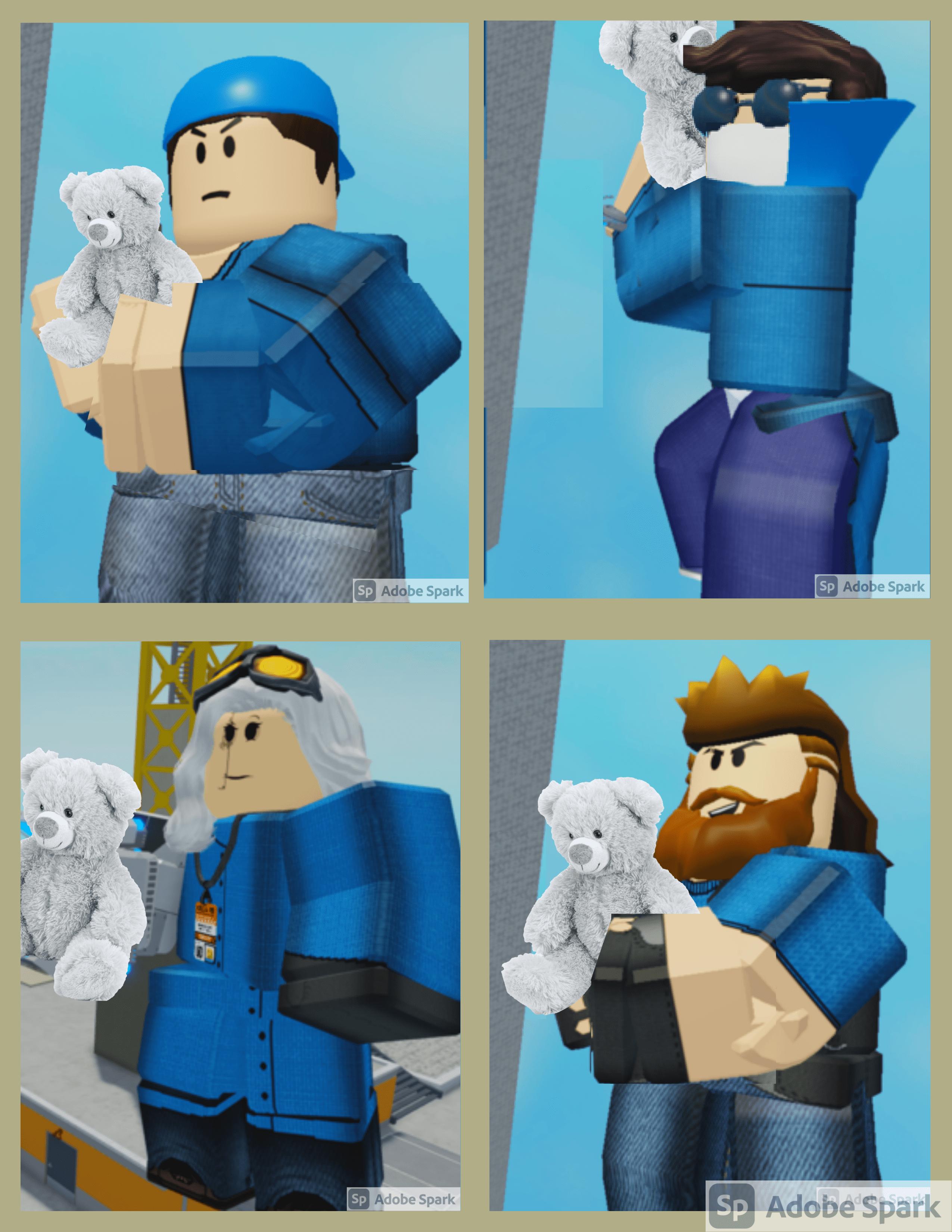 arsenal skins holding teddy bears lol