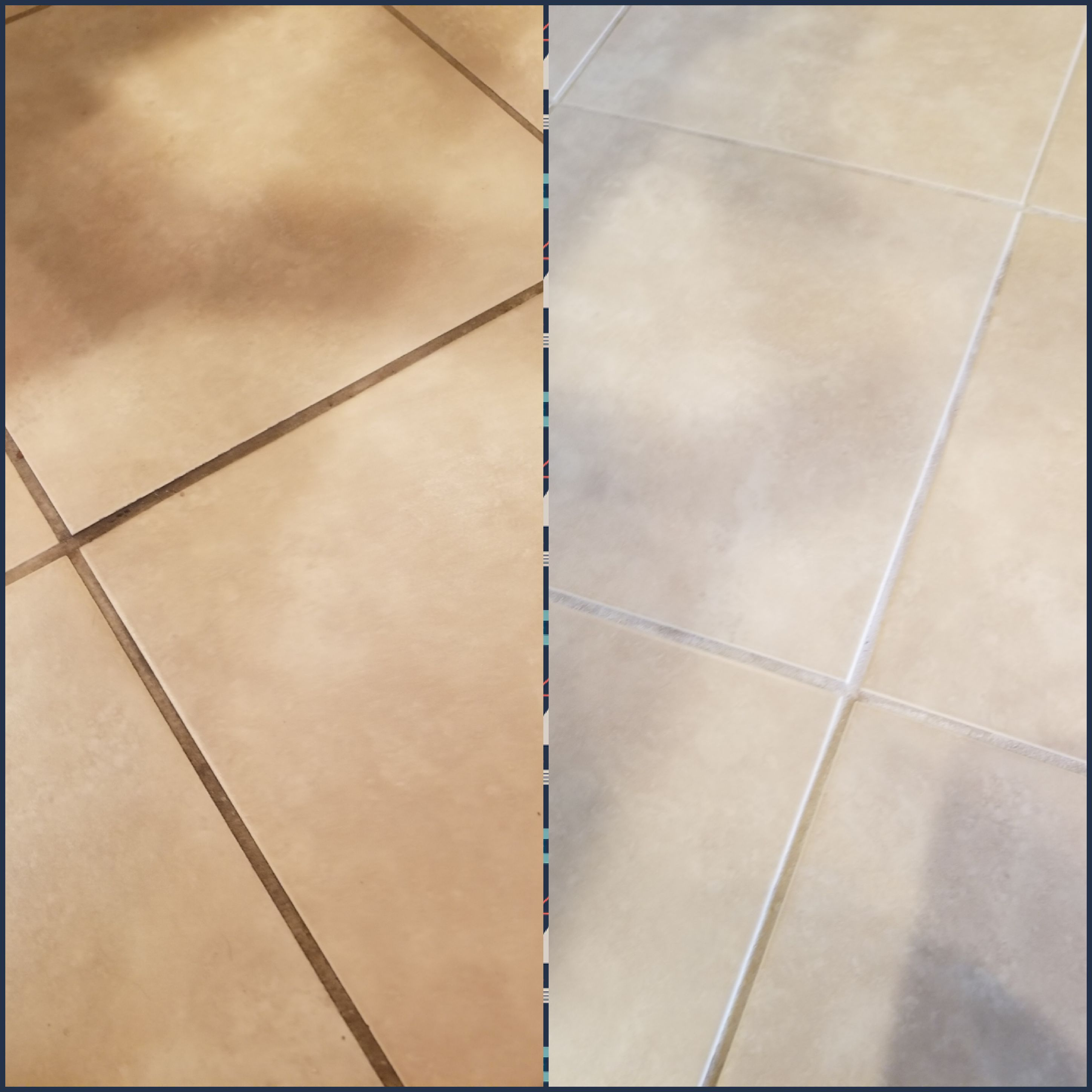 my kitchen floor tiles before and after
