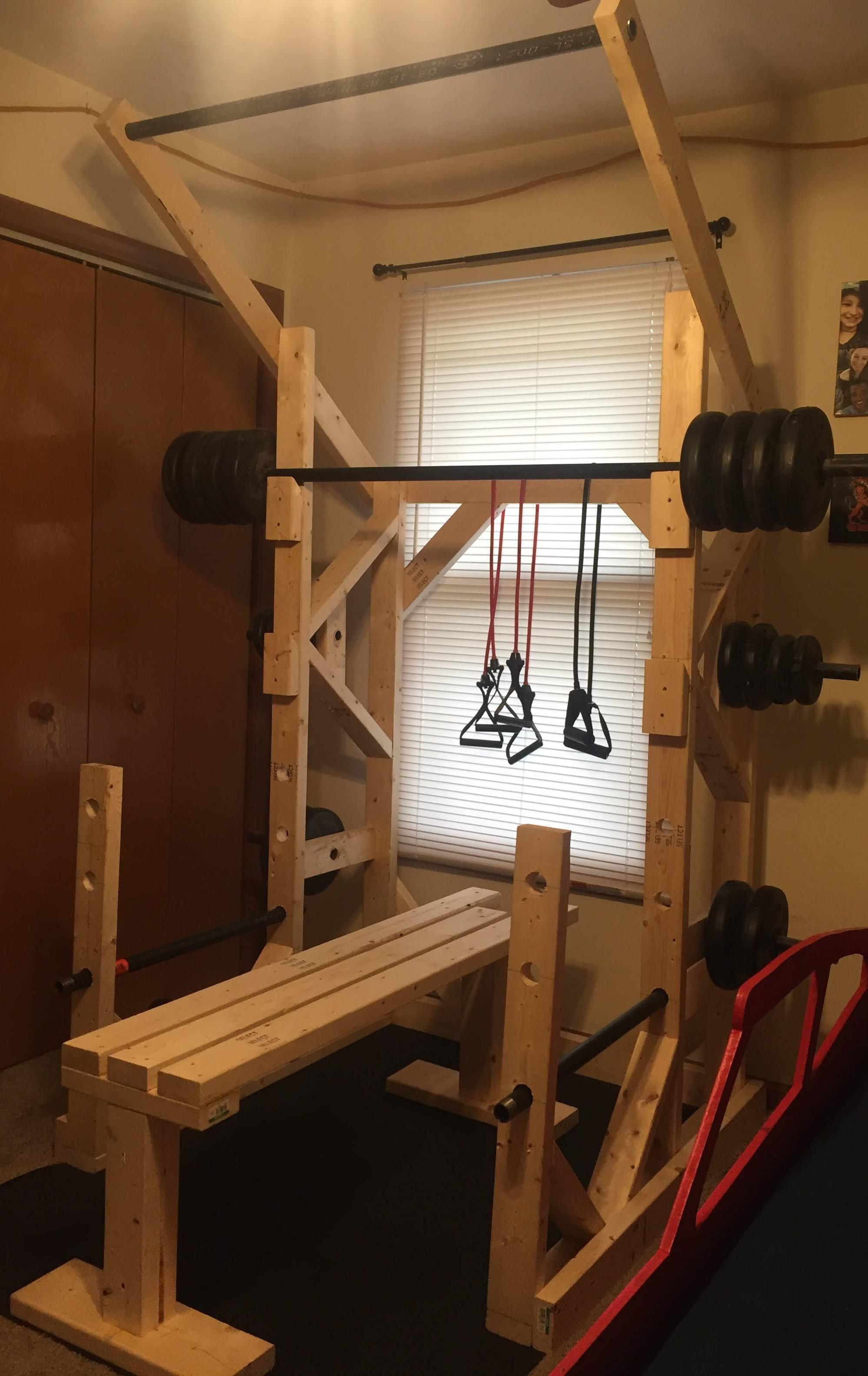 my wooden power rack details in