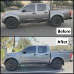 Before And After 2 5 Inch Rc Front Leveling Kit Lift Subtle Yet Makes An Incredible Difference Nissanfrontier