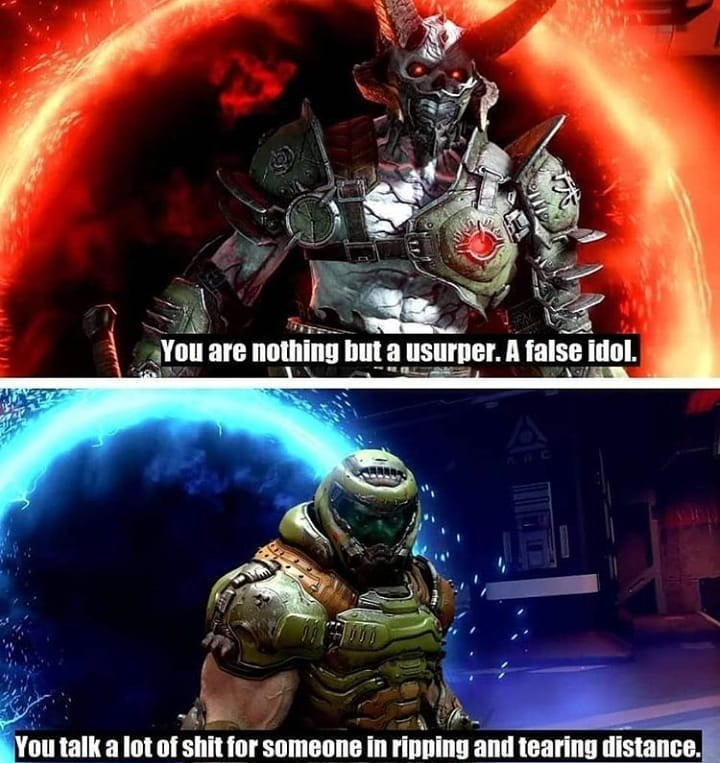 I Like This Line To Be In Game Actually Doom