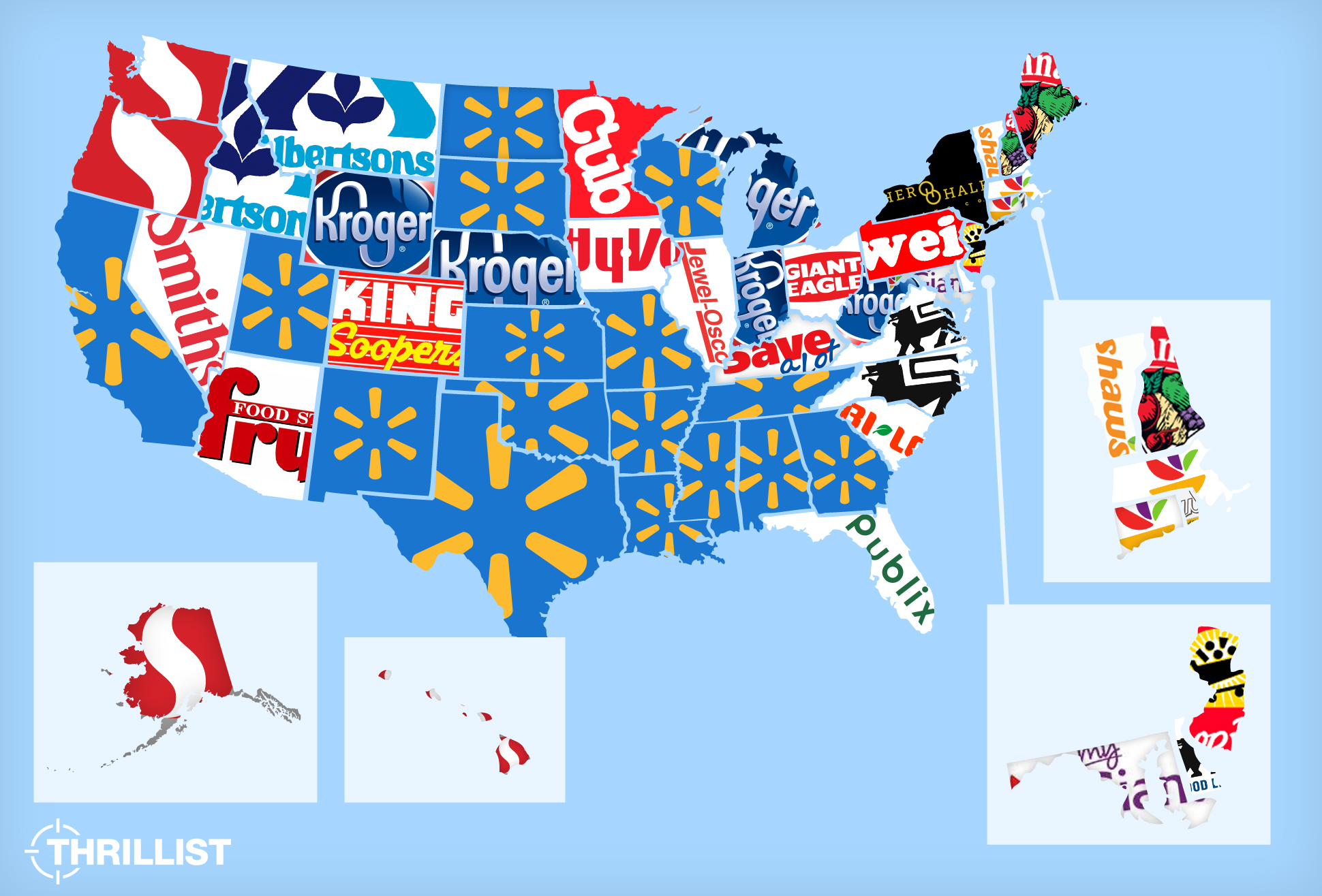 The Most Popular Grocery Store in Every US State Grocery